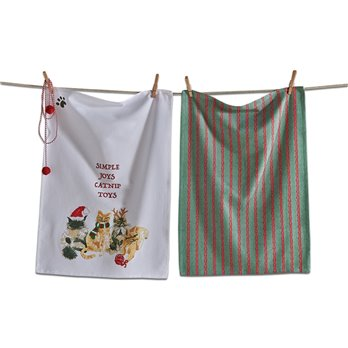 Simple Joys Catnip Toys Dishtowel Set of 2