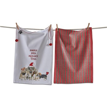 Simple Joys Squeaky Toys Dishtowel Set of 2
