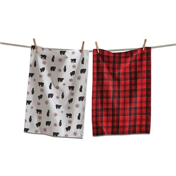 Lodge Bear Dishtowel Set of 2