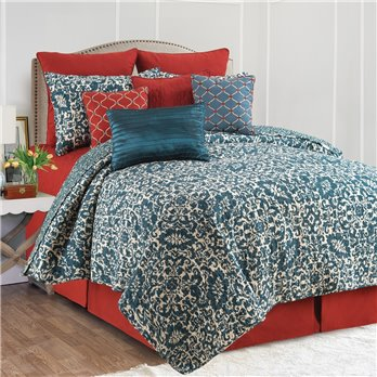 Madison Adriatic 3 Piece Queen Quilt Set