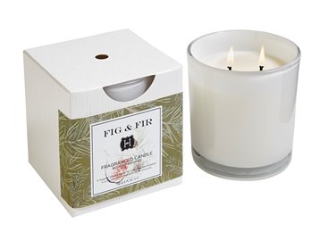 Fig & Fir 2 Wick Candle In Glass 12 oz by Hillhouse Naturals