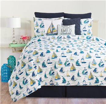 Dockside King Quilt Set