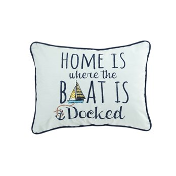 Embroidered Home Docked Pillow