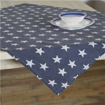 Multi Star Navy Table Topper 40x40