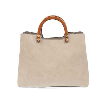 Oyster Angie Vintage Satchel with Wood Handles