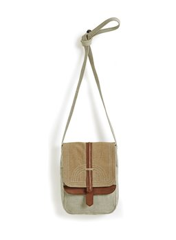 Mona B. Oakley Crossbody Bag - Natural