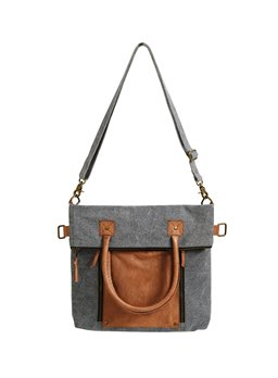Mona B. Fold-Over Convertible Tote - Ash