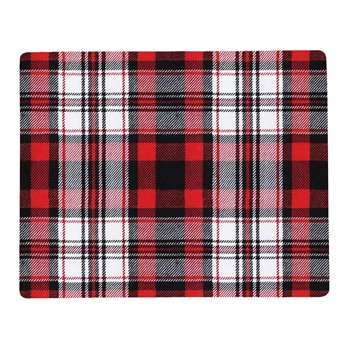 Fireside Plaid Rectangular Hardboard Placemats Set of 6