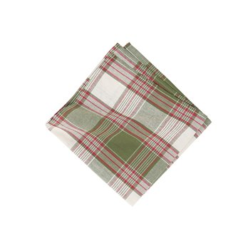 Chickadee Plaid Napkin