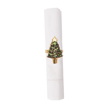 Painted Christmas Tree Napkin Ring