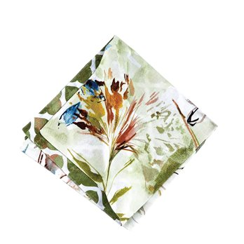 Watercolor Floral Napkin