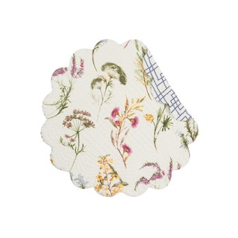 Genevieve Round Quilted Placemat