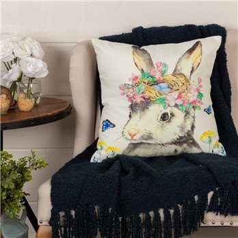 Easter Bunny Whimsy Pillow 18x18