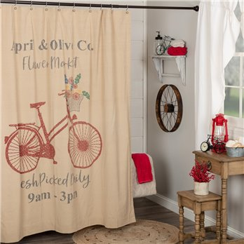Farmer's Market Flower Market Shower Curtain 72x72