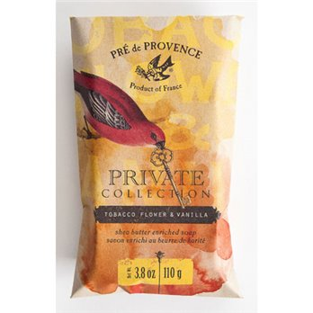 Private Collection Tobacco & Flower Vanilla Shea Butter Enriched Soap by Pre de Provence