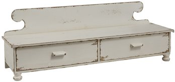Counter Shelf Distressed White