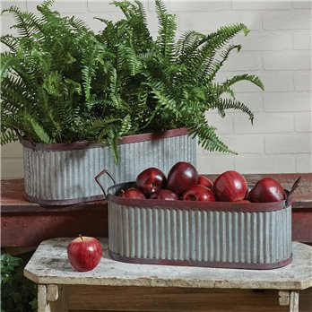 Lexington Trough Containers - Set of 2