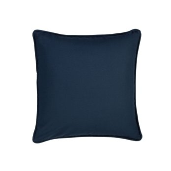 On Course Solid Navy Square Pillow