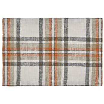 October Spice Plaid Woven Placemat