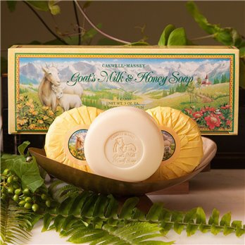 Caswell-Massey Goats Milk & Honey Soap (3 x 3 oz)