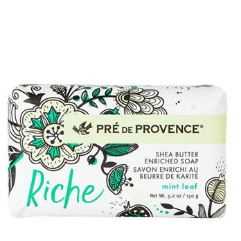 Pre de Provence Riche Mint Leaf Shea Butter Vegetable Soap 150 g