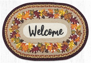 "Autumn Welcome Oval Braided Rug 20""x30"""