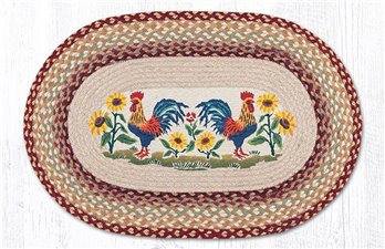 "Country Morning Oval Braided Rug 20""x30"""