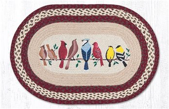 "Birds on a Wire Oval Braided Rug 20""x30"""
