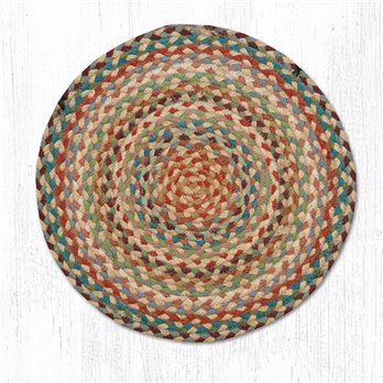 "Multi 1 Jute Braided Chair Pad 15.5""x15.5"""