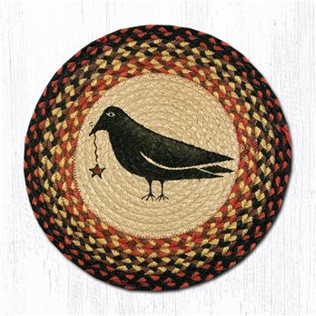 "Crow & Star Round Braided Chair Pad 15.5""x15.5"""