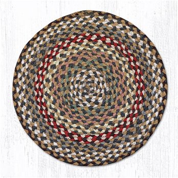 "Fir/Ivory Jute Braided Chair Pad 15.5""x15.5"""