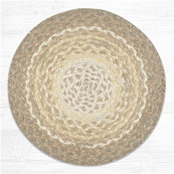 "Natural Jute Braided Chair Pad 15.5""x15.5"""