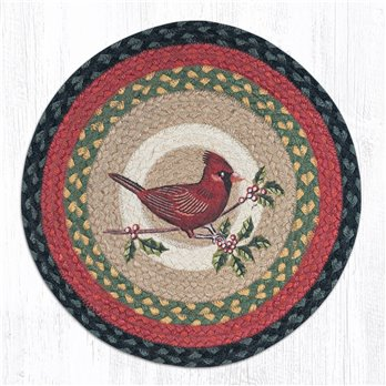 "Cardinal Round Braided Chair Pad 15.5""x15.5"""