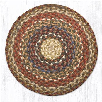 "Honey/Vanilla/Ginger Jute Braided Chair Pad 15.5""x15.5"""