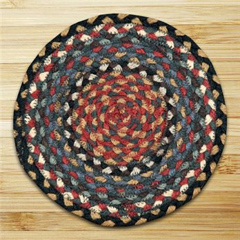 "Burgundy, Blue & Gray Round Swatch 10""x10"""