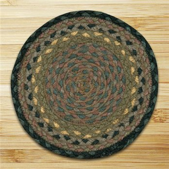 "Brown, Black & Charcoal Round Swatch 10""x10"""