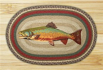 "Trout Braided and Printed Oval Rug 20""x30"""