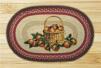 "Apple Basket Braided and Printed Oval Rug 20""x30"""