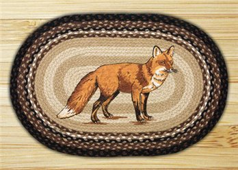 "Fox Braided and Printed Oval Rug 20""x30"""