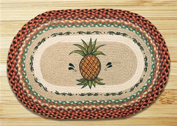 "Pineapple Braided and Printed Oval Rug 20""x30"""