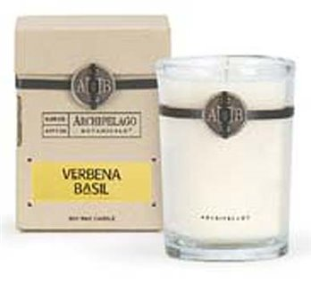 Archipelago Verbena Basil Soy Boxed Candle