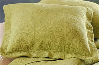Green Quilted Matelasse Euro Sham