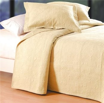 Taupe Quilted Matelasse Twin Quilt