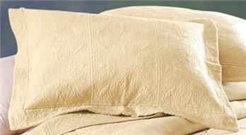Taupe Quilted Matelasse Standard Sham