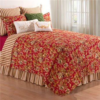 Jocelyn Red King Quilt