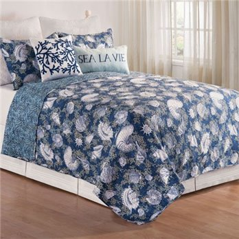 Cape Coral Full Queen 3 Piece Quilt Set