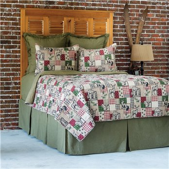 Caleb Full Queen 3 Piece Quilt Set
