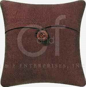 Brown Feather Down Pillow