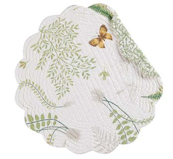 Althea Round Quilted Placemat