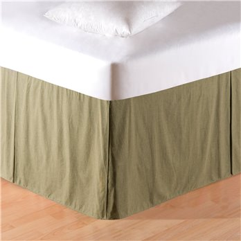 Mini Green Plaid King Bedskirt